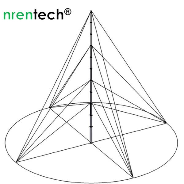4x4 guying ropes for nrentech-21m pneumatic mast