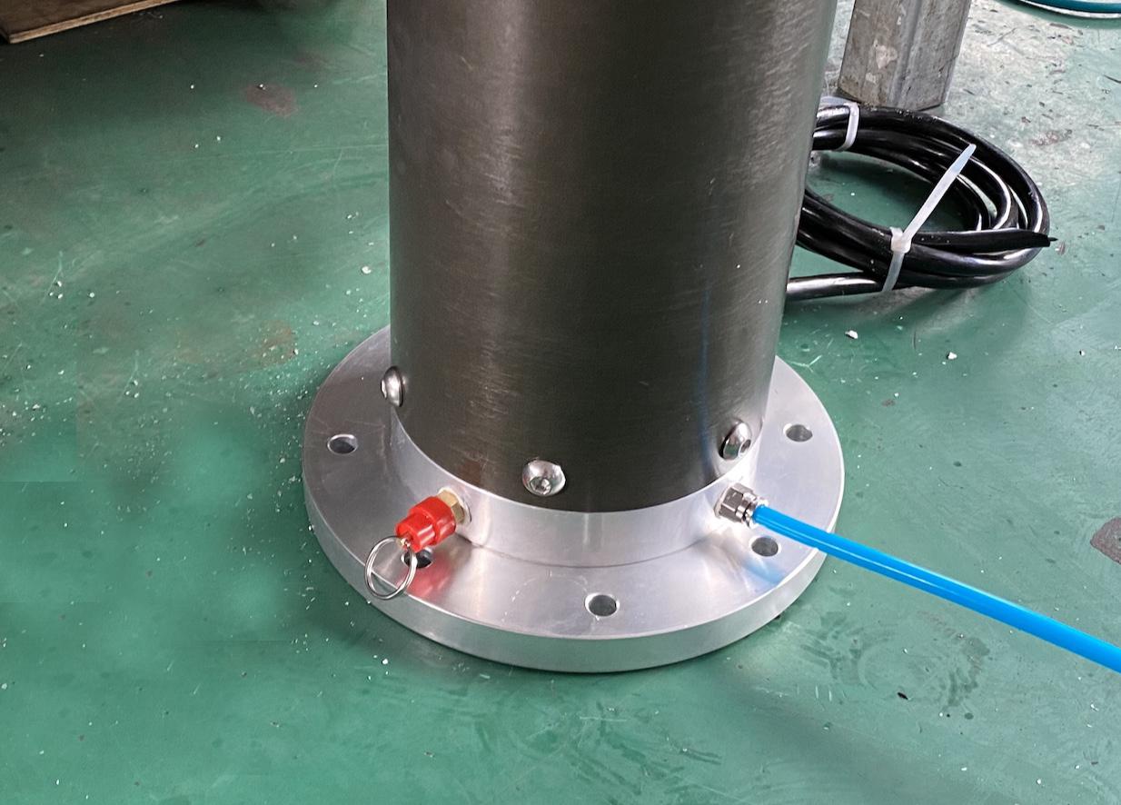 bottom flange over pressure valve