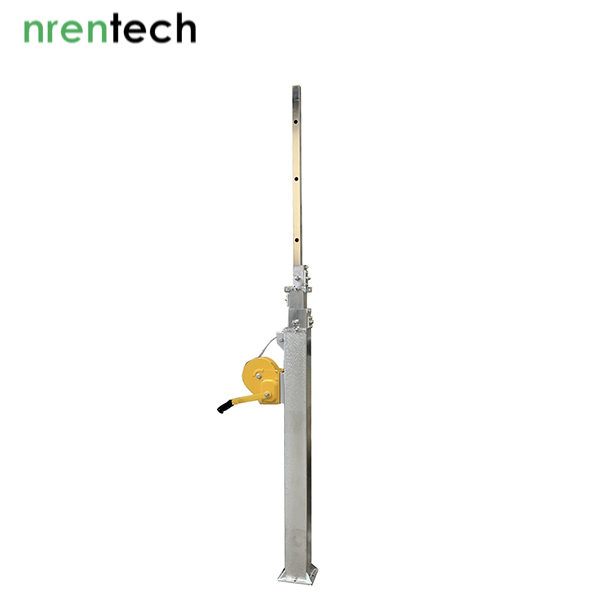 8m Crank Winch Mast-50kg payloads (Galvanized Steel)