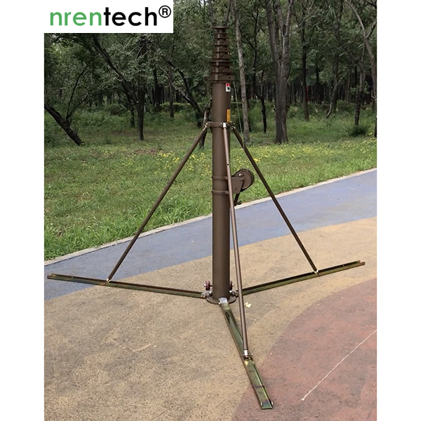 15m mast with tripods