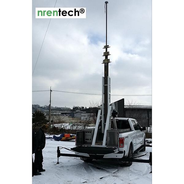 20m Lockable Pneumatic Telescopic Mast 15kg Payloads-NR3500-20000-15L