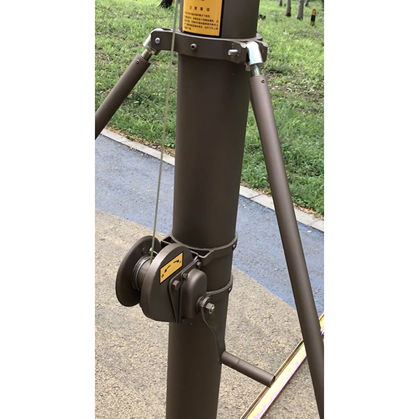 manual crank mast 10m